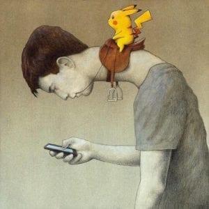 pokemon go text neck
